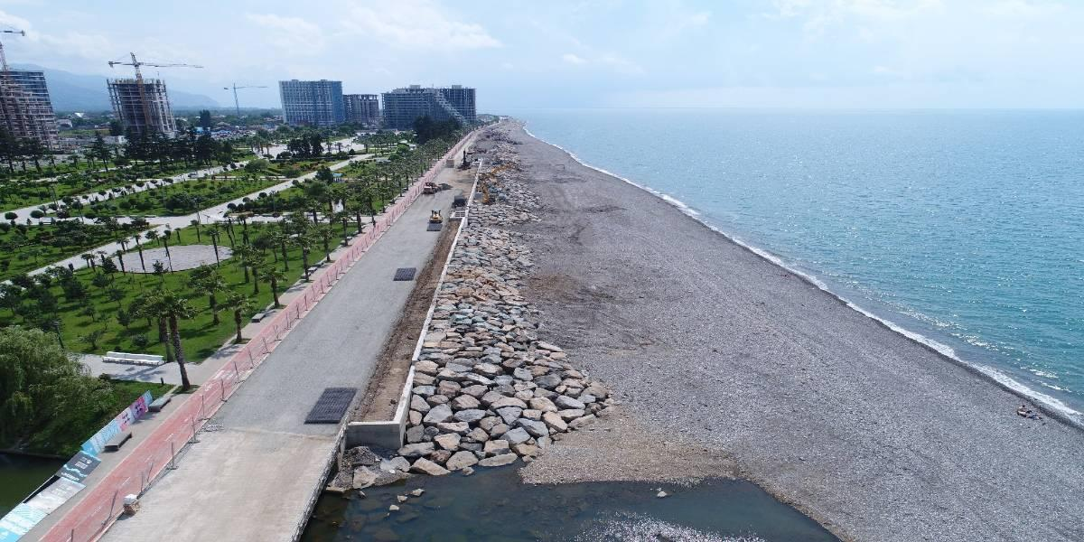 Engineering, procurement, construction management and supervision of Batumi coastal protection (Georgia)