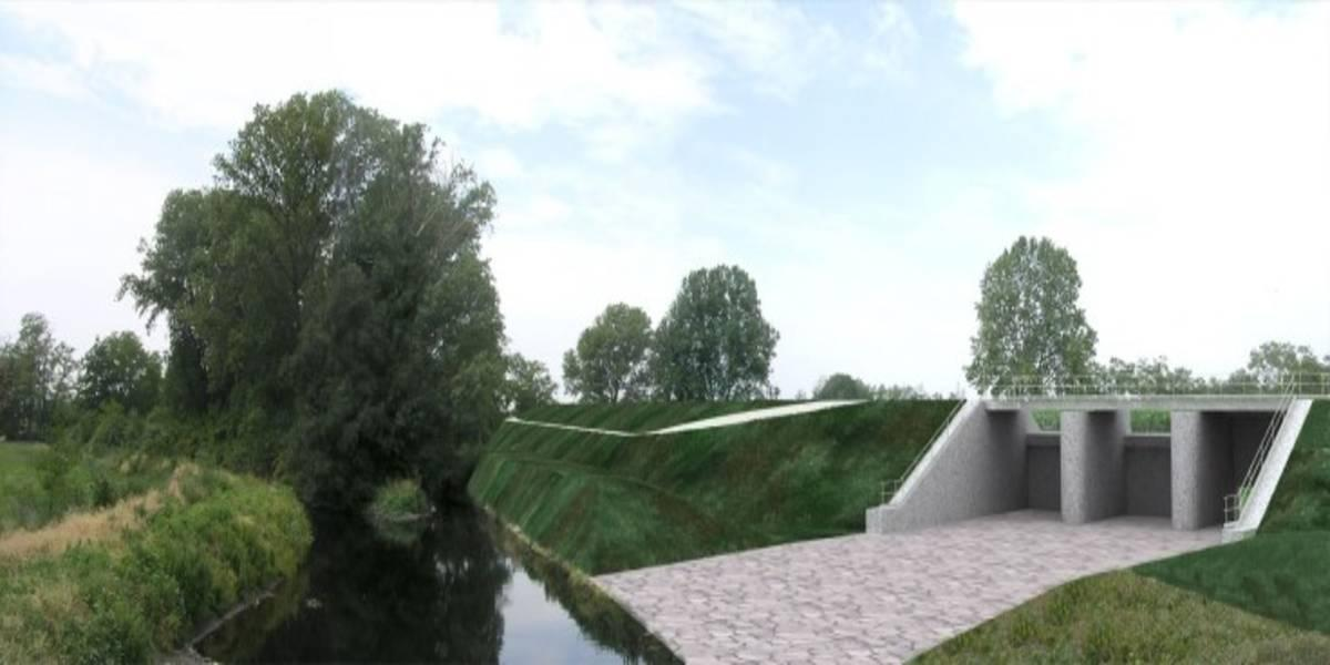 Flood control works on the Olona river (Italy)