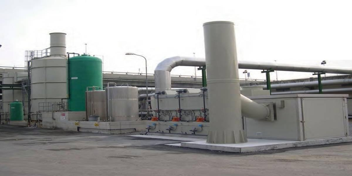 Waste water treatment plant: deodorisation plant after the connection to Finale Ligure Area (Italy)