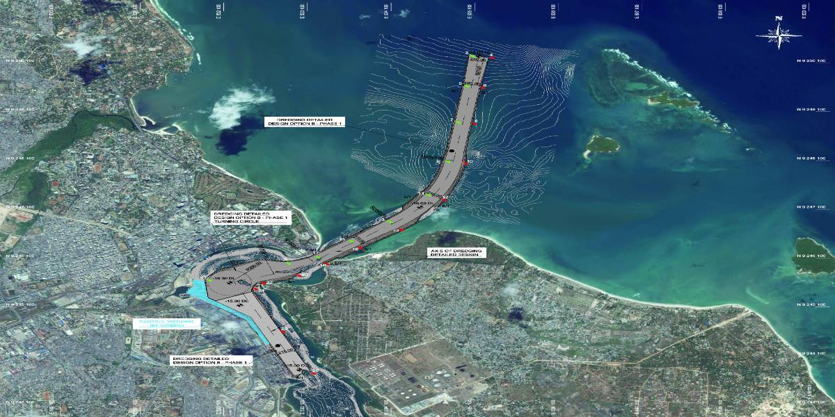 Feasibility study and detailed design of the dredging of Dar es Salam port entrance channel and turning basin (Tanzania)